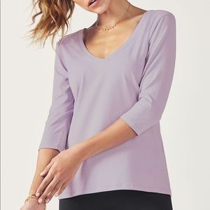 Lilac Fabletics Workout Top